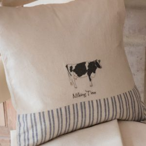Sally Belinda | Designed Commissions | Cow Cushion