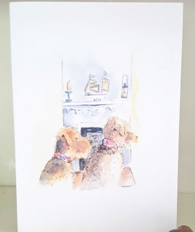 Sally Belinda | Designed Commissions | Dogs Card
