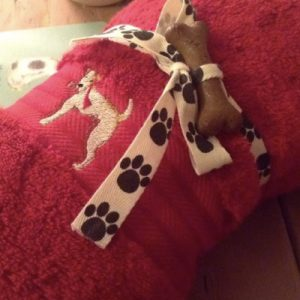 Sally Belinda | Illustrator Cheshire | Fox Terrier Paw Towel