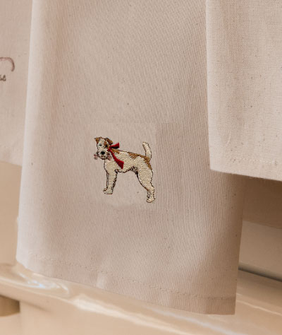 Sally Belinda | Illustrator Cheshire | Fox Terrier tea Towel