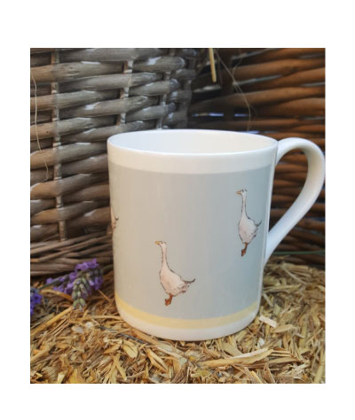 Sally Belinda | Illustrator North West | Garden Goose China Mug