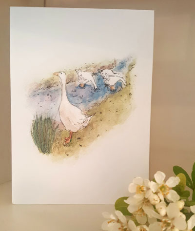 Sally Belinda | Commissions | Goose Card